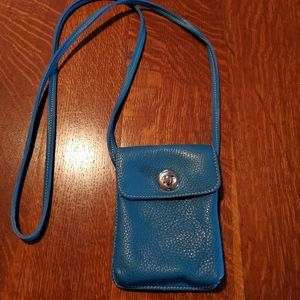 Small Roots Leather Crossbody Bag